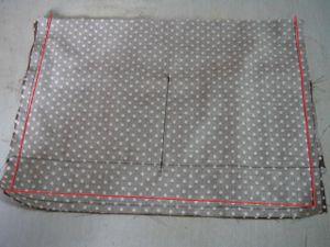 表と同じように中表にしてミシンで縫い まち6cmを作っておきます。