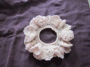 扇と扇の間部分(編み図参考) 編む手がきついかどうかで 鎖を3目2号か針をかえて4目1号に 縁の扇形が丸まってしまえば 少しきついということです