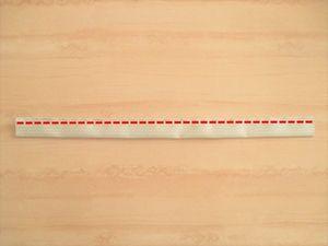 中表に合わせ端から5㎜の所を真っ直ぐ縫います。
