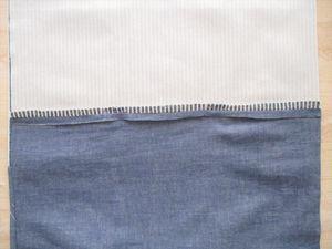縫い代を割ります。 もう片方も縫い合わせ、縫い代をアイロンで割ります。